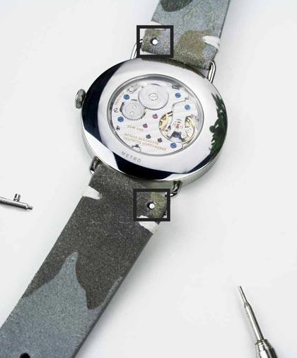 Bild Schnellwechsel System mit Federstege und Uhrenarmband
