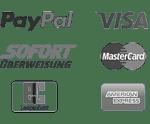 """""""Zahlungsmethoden_mit_Paypal_Visa_Mastercard_Sofort_Ueberweisung_American_Express_Lastschrift_Überweisung"""""""