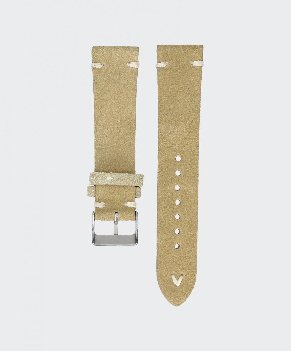 sand beige leder uhrenarmband beiges vintage wildleder. Black Bedroom Furniture Sets. Home Design Ideas