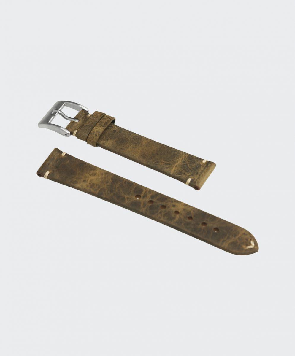 Skog Brown Vintage Leder Uhrenarmband