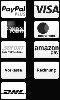Zahlungsmethoden_mit_Paypal_Visa_Mastercard_Sofort_Ueberweisung_American_Express_Lastschrift_Überweisung und kostenloser Versand