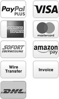 Payment methods including master card, visa, american express, wire transfer, invoice, paypal